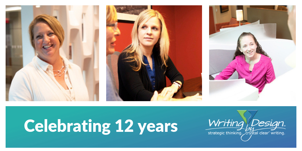 Writing by Design celebrates 12 years in business